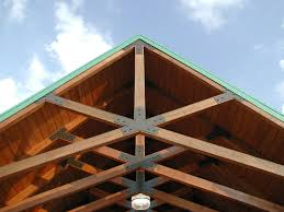 Designs For Glued Trusses Nice Scissors Trusses With Steel Plates Roof Truss Design