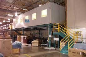 mezzanine office. 14x45 Mezzanine Office In Warehouse O