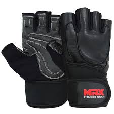 weight lifting gloves gym fitness training workout exercise mrx leather wrist bk