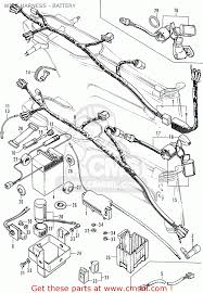 Honda cm91 1966 usa wire harness battery schematic partsfiche c90
