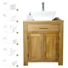 solid oak vanity unit with basin sink bathroom prestige wooden rustic