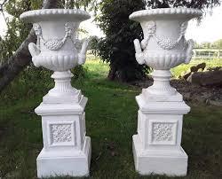 heavy cast iron garden urns bh108exr