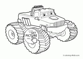 Small Picture Nice Monster Truck with Eyes coloring page for kids
