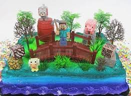 Minecraft Cake Toppers Printable Amazingbirthdaycakesml