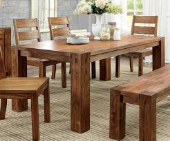 oak dining table and chairs. Furniture Of America CM3603T Dark Oak Dining Table Set | Kitchen Tables And Chairs M
