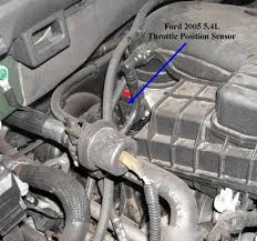the top two photos are of a throttle position sensor off a 2005 ford expedition with 5 4l engine the tps acting up will cause a variety of goofy driving