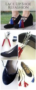 Diy Shoes Design Step By Step Diy Lace Up Shoe Refashion Refashion Clothes Shoe