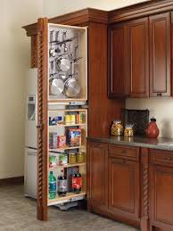 image of pull out pantry cabinet sizes