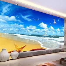 beach and ocean wall murals