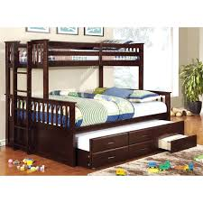queen bunk bed with trundle. Delighful With Furniture Of America Rodman Twin Over Queen Bunk Bed With Trundle Throughout With A