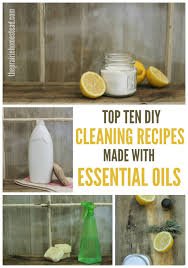 top ten proven diy cleaning recipes made with essential oils
