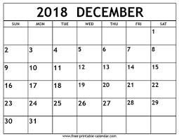 December 2018 Calendar Free Printable Calendar Com