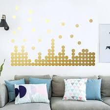 gold wall decals gold wall decals polka dots wall stickers vinyl round circle art stickers removable gold wall decals