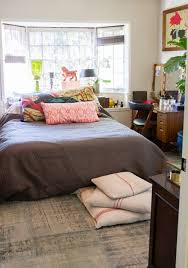Bedroom Design With Bed In Front Of Windows Pull It Off Beds In Front Of Windows Apartment Therapy