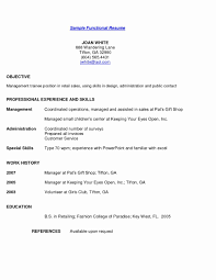 Resume Functional Resume Template Word Format Monster Templates