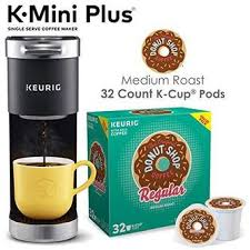 Discover our bestselling & newest brewers online today! Xbv7j6r Keurig K Mini Plus Single Serve Coffee Maker With Donut Shop Coffee Pods 32 Count
