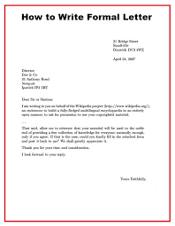 formal letter example 5 6 formal letter address resumesheets