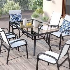 patio furniture 7 piece dining set beautiful mercury row nicodemus 5 piece bistro set reviews