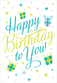 Free Printable Happy Birthday To You Greeting Card Free Printable