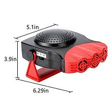 PerGrate Upgraded Version Car Heater Fan <b>12V 24V Red</b> And ...