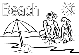 Check your email for your downloadable coloring sheet. Beach Themed Coloring Pages Coloring Home