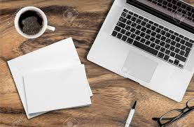 laptop and papers desk work stock photo picture and royalty paper desk pad contact paper on desktop