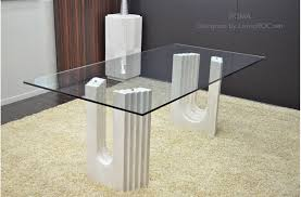 2000mm travertine marble dining table tempered glass top roma