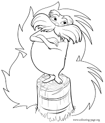 Small Picture Dr Seuss Lorax Coloring Page GetColoringPagescom
