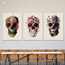 canvas print light skull art canvas