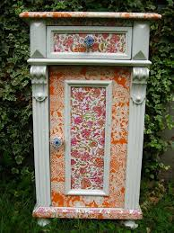 decorating furniture with paper. DIY Re-decorating Furniture Using Decopatch Paper And Glue - Cupboard. Decorating With D
