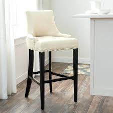 ivory fabric trim bar stool nailhead stools leather counter