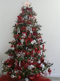 Red, white, and silver Christmas tree!