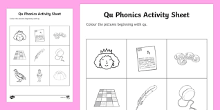 Covering, letters of the alphabet. Qu Phonics Colouring Worksheet Worksheet Teacher Made