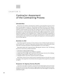 Chapter 5 - Contractor Assessment Of The Contracting Process ...