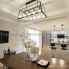 room rectangle dining table crystal chandelier rectangular