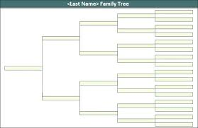 Free Family Tree Template Word Chart Editable For Microsoft