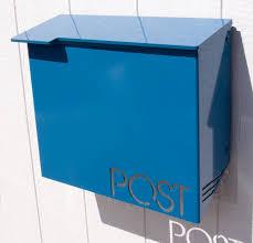 custom wall mount mailbox. Wonderful Mount Moda Industria Modern Mailbox 1711 Powder Coated Aluminum To Custom Wall Mount B