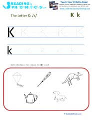 This page has links to all phonics worksheets including consonant letter sounds, vowels, digraphs, diphthongs, and. Letters And Sounds Leaning Letter K And The K Sound