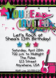 Cozy Teenage Birthday Party Superb Teenage Girl Party Invitations