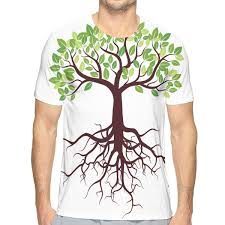 Tree Root Size Chart Nicokee 3d Print T Shirt Tree Root Grow Life Leaf Nature