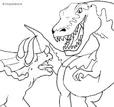Disegno Di Lotta Di Dinosauri Da Colorare Acolorecom