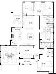 decoration 4 bedroom 3 bath one story house plans single y luxury floor