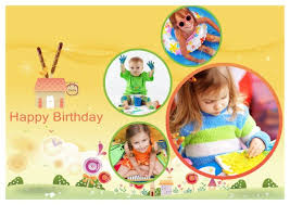 Birthday Photo Collage Template Birthday Card Templates Addon Pack