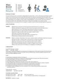 Resume Template For Nurses Nursing Cv Template Nurse Resume Examples Sample  Registered Ideas