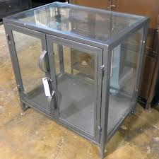 metal glass cabinet. Wonderful Glass Industrial Metal And Glass Cabinet On