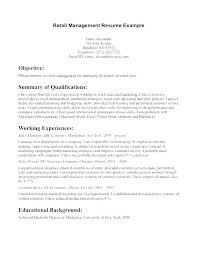 resume objective for retail management retail store manager resume