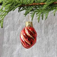 Schraube Rot Gold Glas Anhänger Weihnachtsbaumschmuck