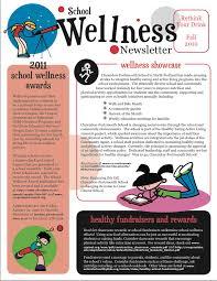Wellness Newsletter Templates School Wellness Newsletter Fa2010 Wellness Newsletter