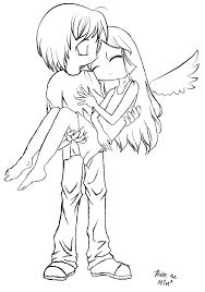 Fallen Angel Lineart By Mimblewimble Deviantart