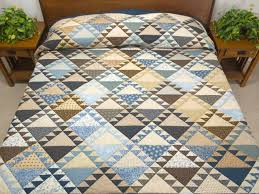 Lady of the Lake Quilt -- superb specially made Amish Quilts from ... & Blues and Tans Lady of the Lake Quilt Photo 1 ... Adamdwight.com